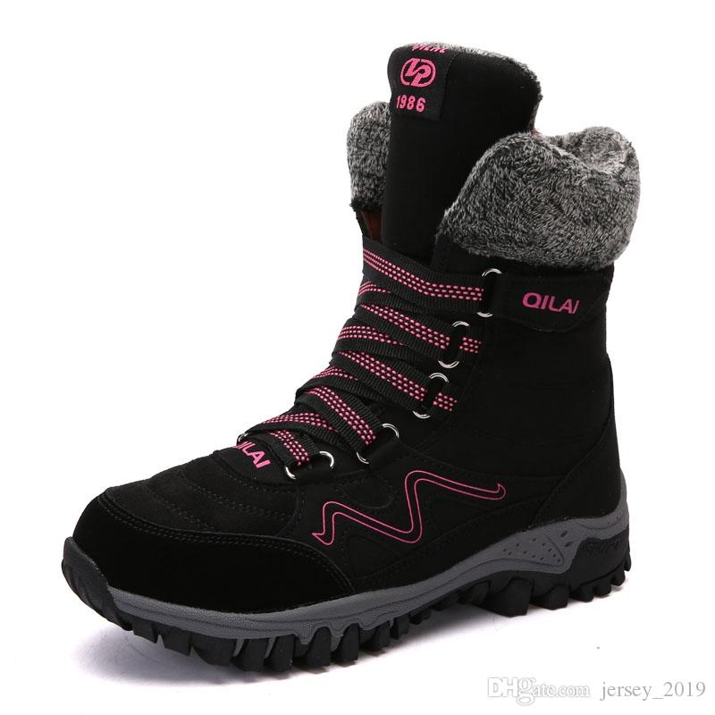 3f41cd0b1a28 Outdoor Skiing Climbing Waterproof Warm Snow Boots Women Winter Thick  Thermal High Tube Shoes Anti-skid Hiking Boots Women  128654 Clear Outdoor  Shoes ...