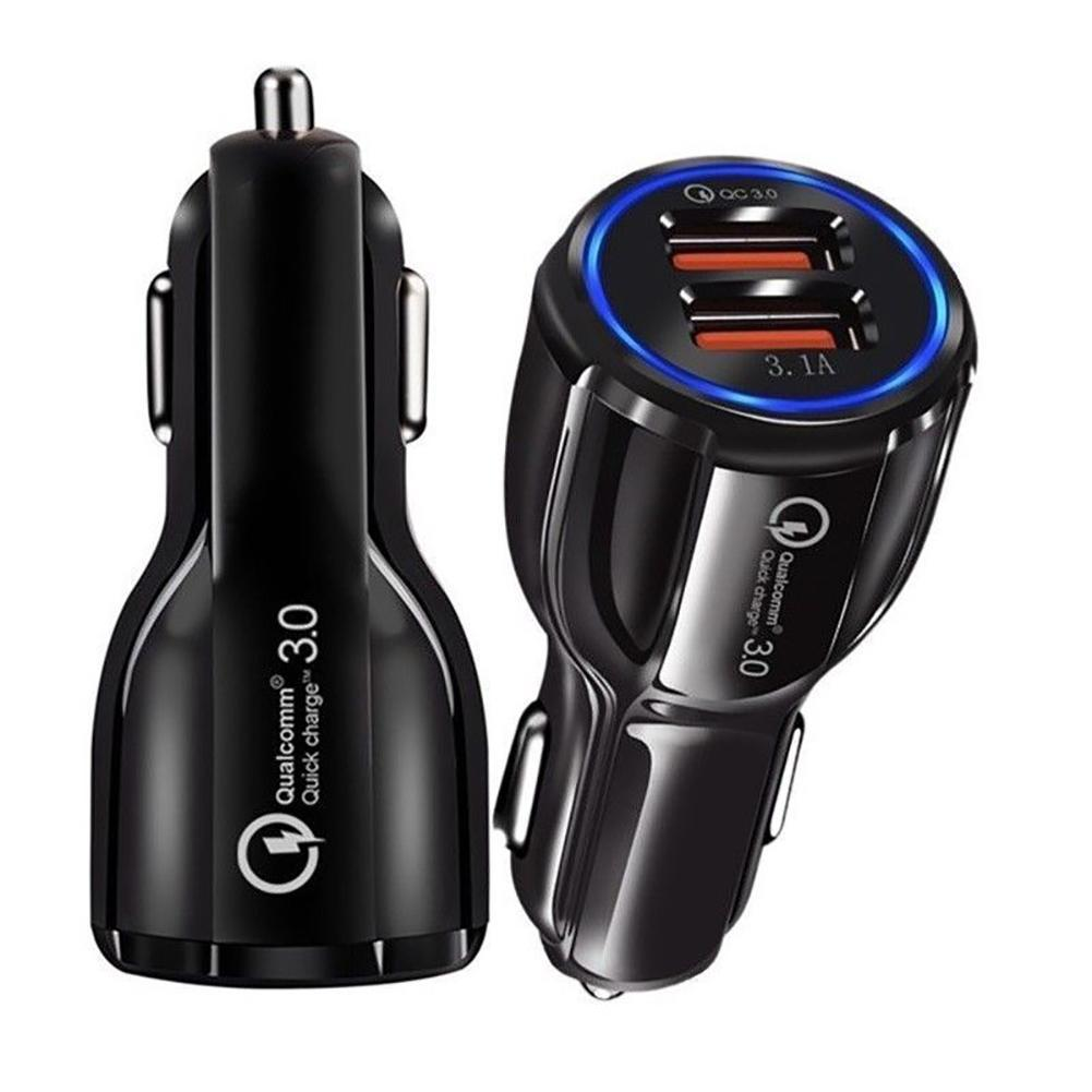 QC3.0 Certified Quick Charge Dual 2 USB Port Fast Car Charger 36W Accesorio para teléfono móvil