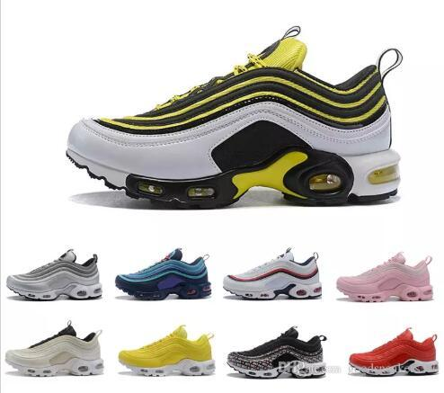 1aa2eea35f Fashion 97 Plus TN Men Womens Running Shoes Triple S Pink Gold Silver  Bullet Men Trainers Women Sports Designer Sneakers Eur36-46