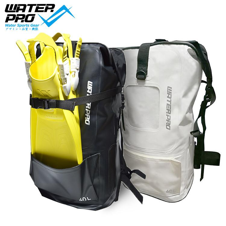 6318466583cf 2019 Water Pro Printed 40L Dry Bag Waterproof Bag DIving Fins Adjustable Water  Sports Scuba Diving Snorkeling From Koolless