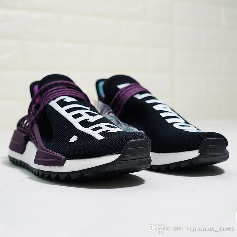 online store 96e66 b8e7b 2019 Pharrell Williams Hu Nmd Trail Human Race Mens Women Shoes Luxury  Running Sneakers Men Designer Trainers New Color