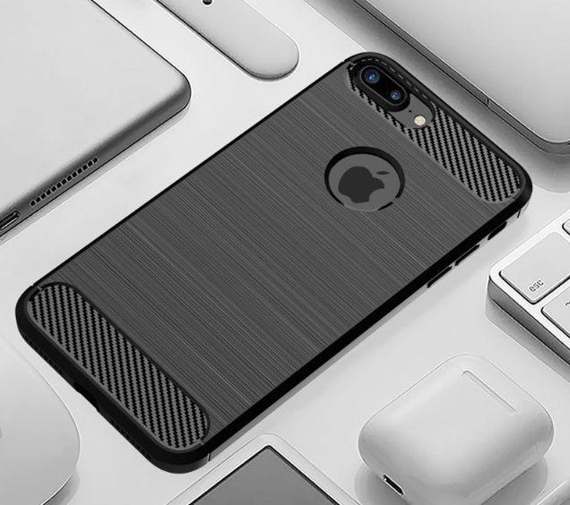 Custodia in fibra di carbonio per iPhone XS MAX XR 6 6S 7 8 Plus Custodia in silicone morbido spazzolato per Samsung S10 S9 Plus DHL