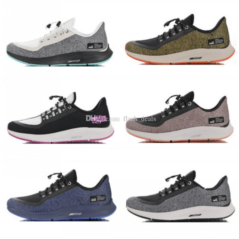 separation shoes fe216 3f1ef 2019 New Zoom Pegasus 35 Shield utility Reflective Turbo Mens Runing Shoes  Marathon 35s Sports Women Sneakers for Men Trainers Size 36-45