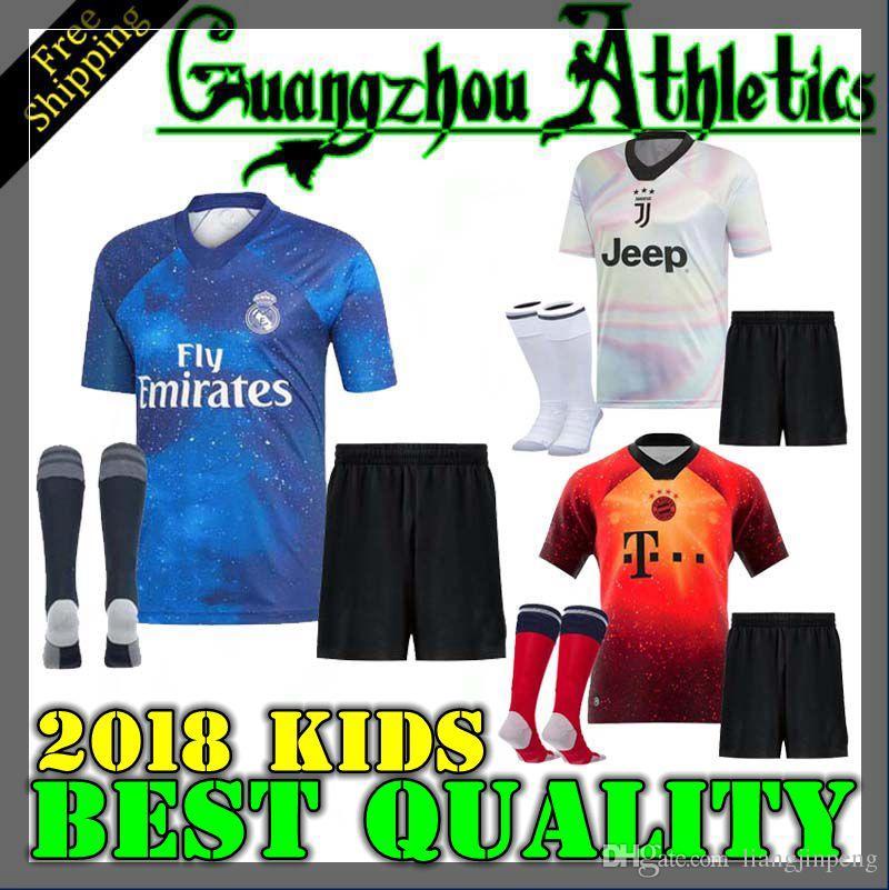 3eb2eb92b 2019 EA Sports Kids Kit Digital INSANE Bayern Munich Man United JUVENTUS REAL  MADRID Child SOCCER JERSEYS SHIRT TRAINING RONALDO SPECIAL SHIRTS From ...