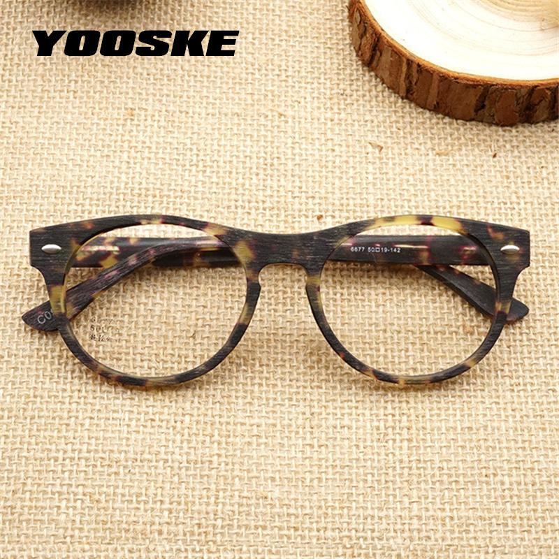 2466237a7fd 2019 YOOAKE Imitation Wood Grain Glasses Frame Women Men Vintage Retro  Round Eyeglasses Frames Unisex High Quality Clear Lens Glasses From  Taihangshan