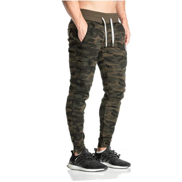New Gym Leisure Camouflage Skinny Jogger Pants Men New Fashion Harem Pants Sweat Pants Men Trousers