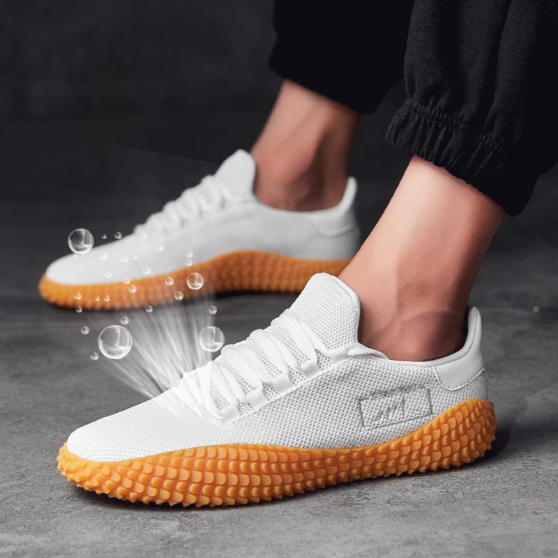 14da7a4433cd5 2019 New Men Shoes White Shoes Summer Mesh Breathable Men Casual Fly Weave  Sneakers Tennis Male Adult Footwear