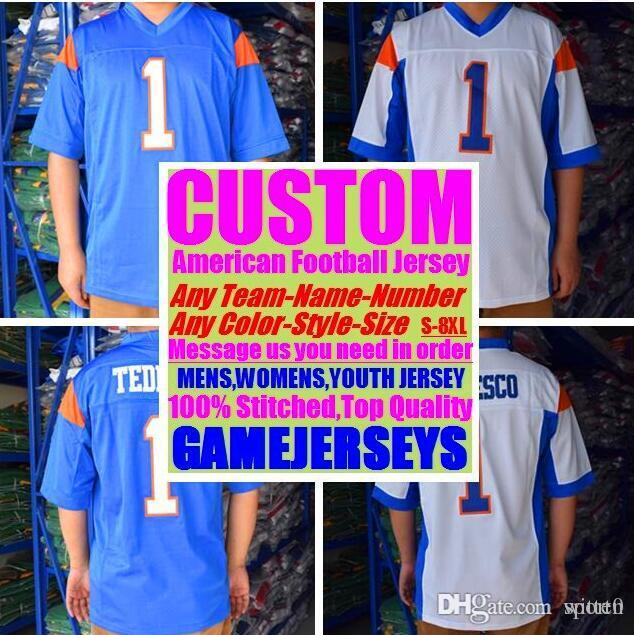 All Stitched Custom american football jerseys Cincinnati Miami college authentic cheap baseball basketball hockey jersey 4xl 6xl 8xl purple