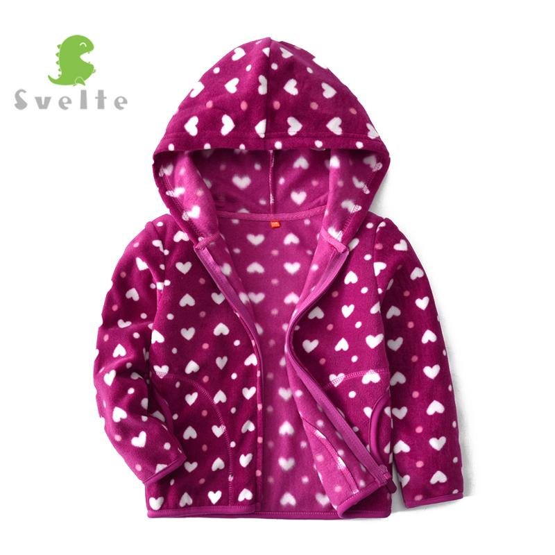 a604e553c SVELTE For 2 9 Y Kids Girls Fleece Hooded Jacket Boys Spring Casual ...