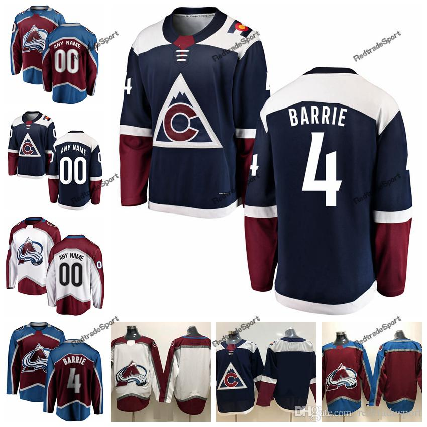 the latest 953b3 cc13b 2019 Tyson Barrie Colorado Avalanche Hockey Jerseys Mens Alternate Blue #4  Tyson Barrie Stitched Jerseys Customize Name Number