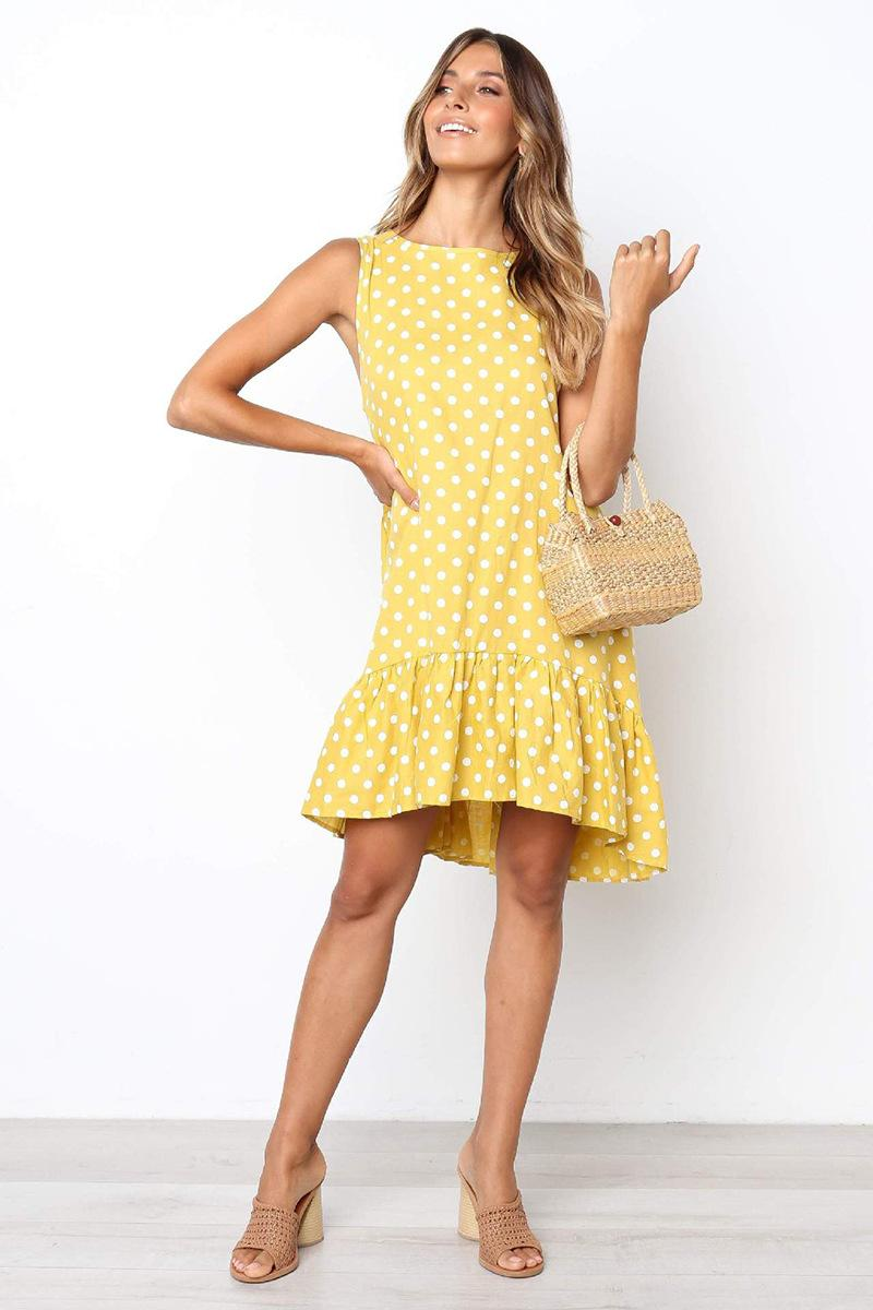 6adc639b0b1b Printed Women Summer Dress 2019 New Arrival Womens Fashion Dot Print ...