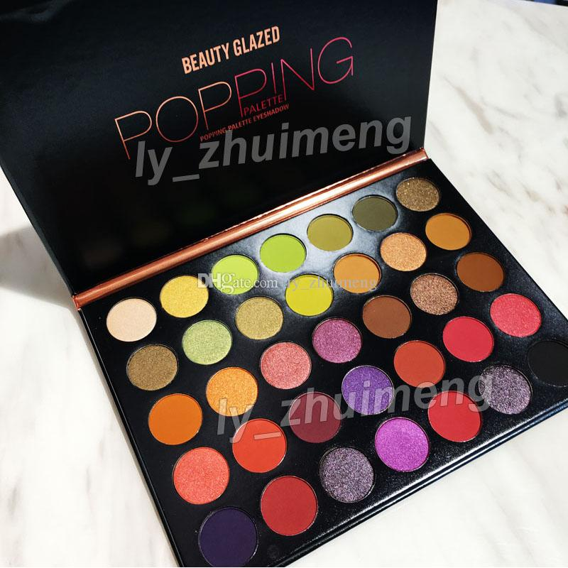 Makeup eyeshadow palette Beauty Glazed POPPING palette 35 Colors Eye shadow nude matte shimmer brand eyeshadow DHL free shipping