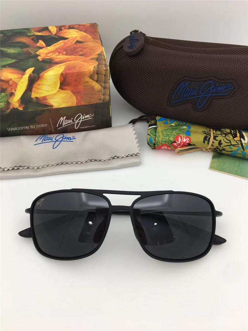 39c0bd85c382 Luxury Classic Men Sunglasses Mauijim MJ 437 Small Square Full Frame Ultra  Light Retro Polarized Lens Glasses Outdoor Protection Eyewear Sunglasses  Brands ...