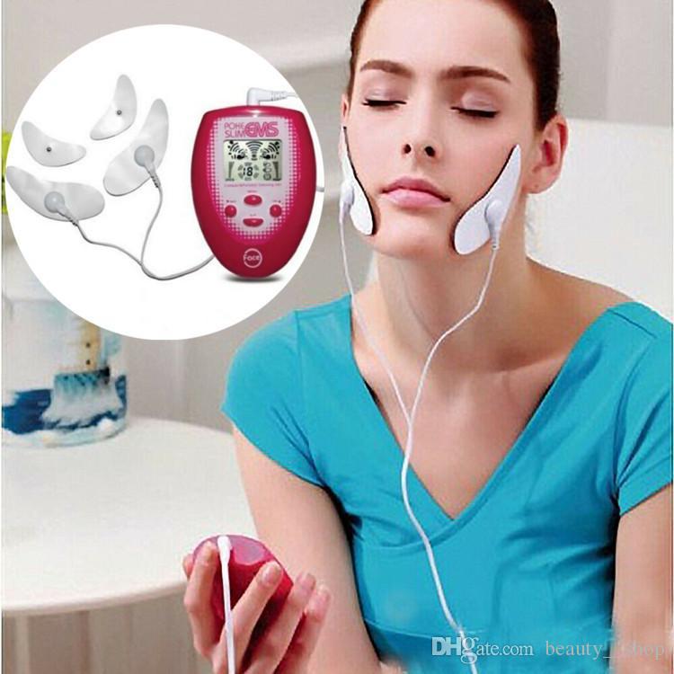 Estimulação elétrica Emagrecimento Rosto Massageador EMS Facial Máquina Para O Rosto Forma Compacta e Portátil Magra Bochecha Jaw Massagem Ferramenta de Cuidados de Beleza