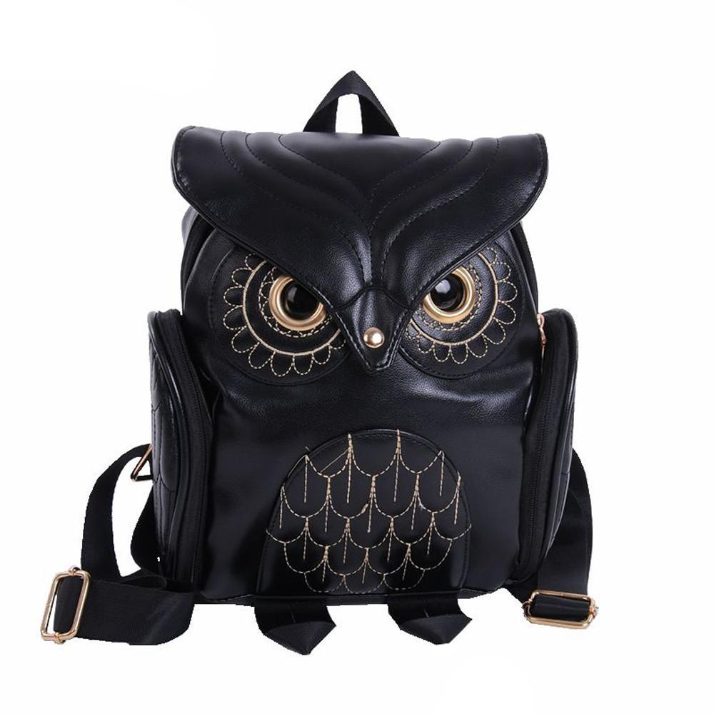 3647b0c382a3 Women Owl Shape Backpack 2019 Novel Student School Bags Cute Cartoon  Traveling Shoulder Bag Creative Bags For Teenagers Girls Tool Backpack Best  Laptop ...