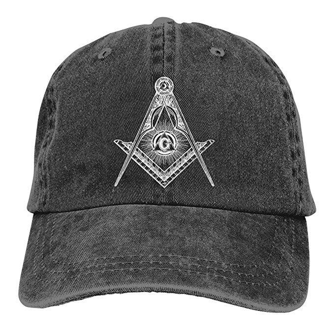 c5b124a14790b 2019 New Designer Baseball Caps Print Hat Freemason Symbols Mens Cotton  Adjustable Washed Twill Baseball Cap Hat Zephyr Hats Kids Hats From Wfm123