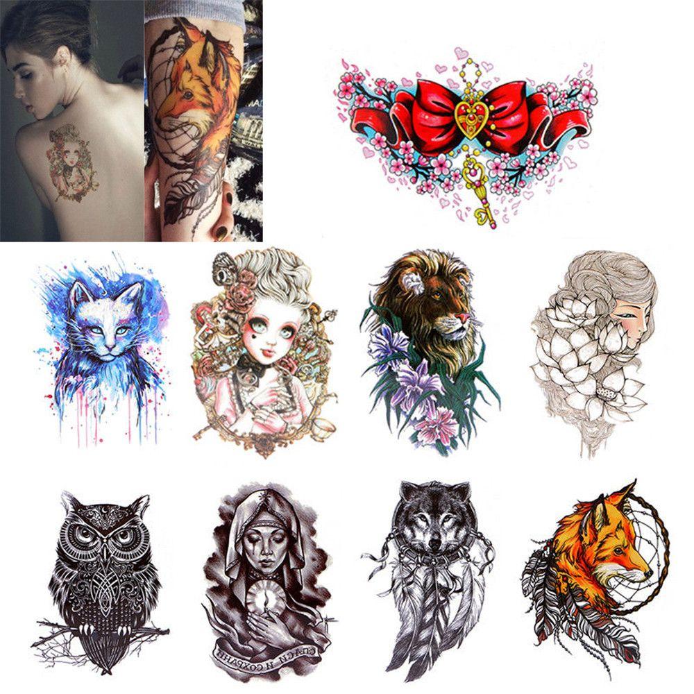 Temporary Tattoos Body Sticker Tattoo Paper Fake Tatoo Waterproof ...