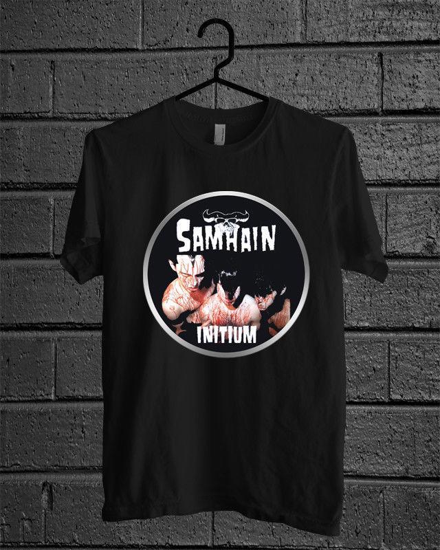 27ab303d039c New Black T Shirt SAMHAIN Initium Men's Clothing free shipping fashion  wholesale 100% Cotton Short Sleeve Top Tee Basic High Quality
