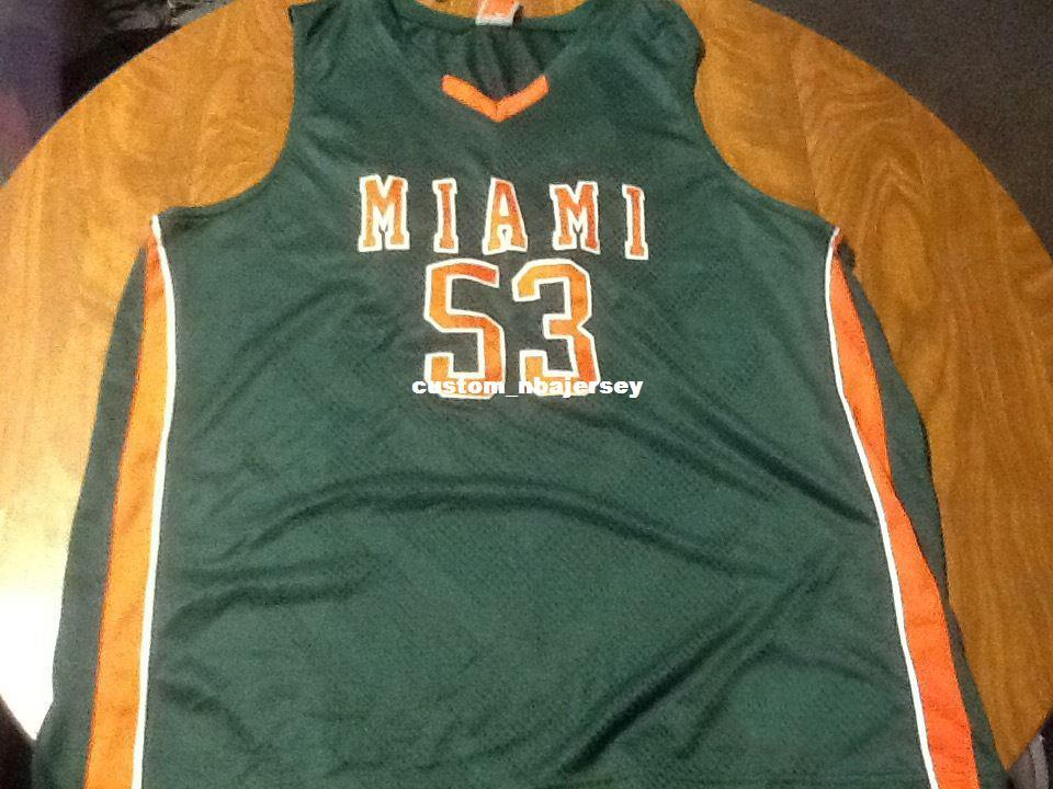pretty nice 86526 191ad Cheap custom miami hurricanes basketball jersey Stitched Customize any  number name MEN WOMEN YOUTH XS-5XL