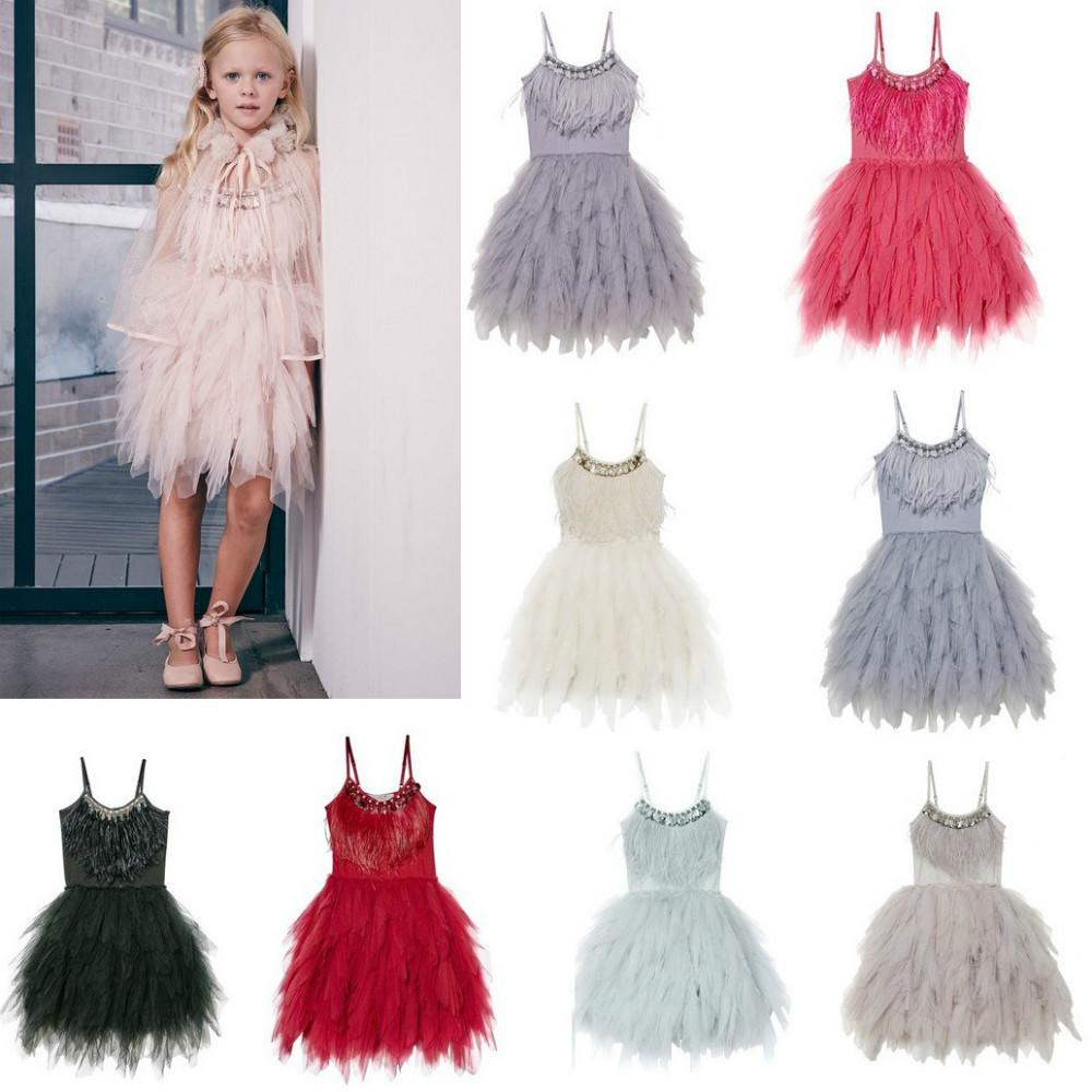 2019 Elegant Baby Girl Rustic Lace Sling Dress Kids Princess Birthday Dress  Rhinestone Sashes Tutu Dress Toddler Party Gown CA555 From Ycqz3 96e131ab8f20