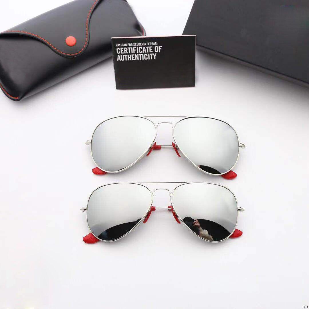 Espejo Sol Lente Protección Cambio Hombres Ovalado Rb3026 Marca Gafas Marco Con De Adicional Uv Rayban Diseñador TKJ5ul3F1c
