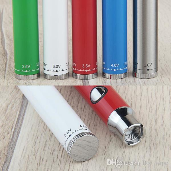 LO Preheat Battery 380mah Button Twist Vaporizer penna a tensione variabile 510 Thread Vape Pen Battery Fit carrelli esotici PK Brass Knuckles Battery