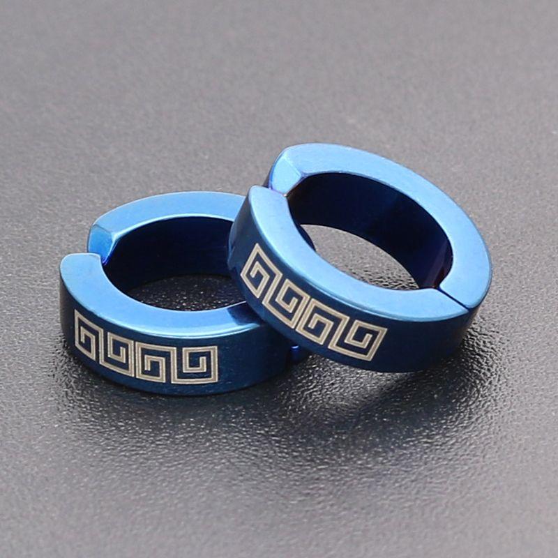 PUN punk clip on earrings korea earring clips without hole non pierced fake funny simple earrings for men ear cuff rings