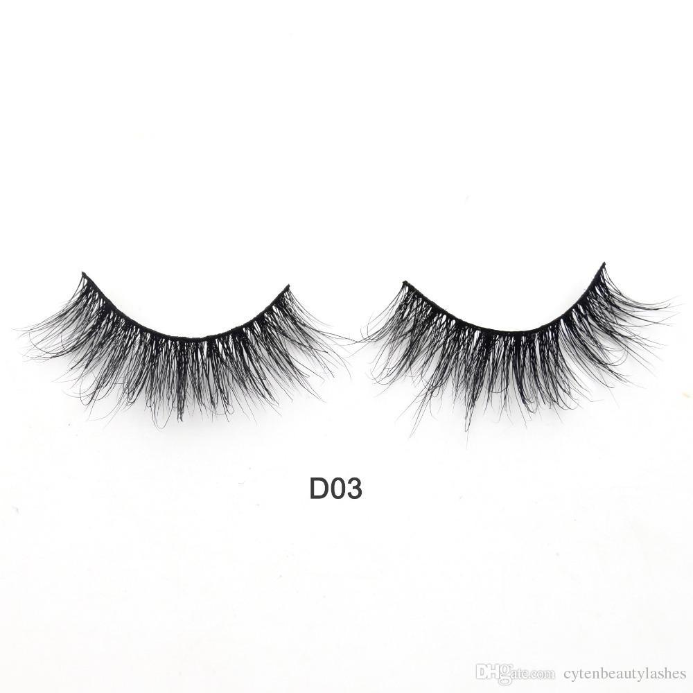 2eb912e4710 Free Eyelashes Logo 3D Mink Lashes High Volume Handmade Mink False Eyelashes  Thick Full Strip Lashes Cruelty Free Cilios D03 How To Clean False Eyelashes  ...