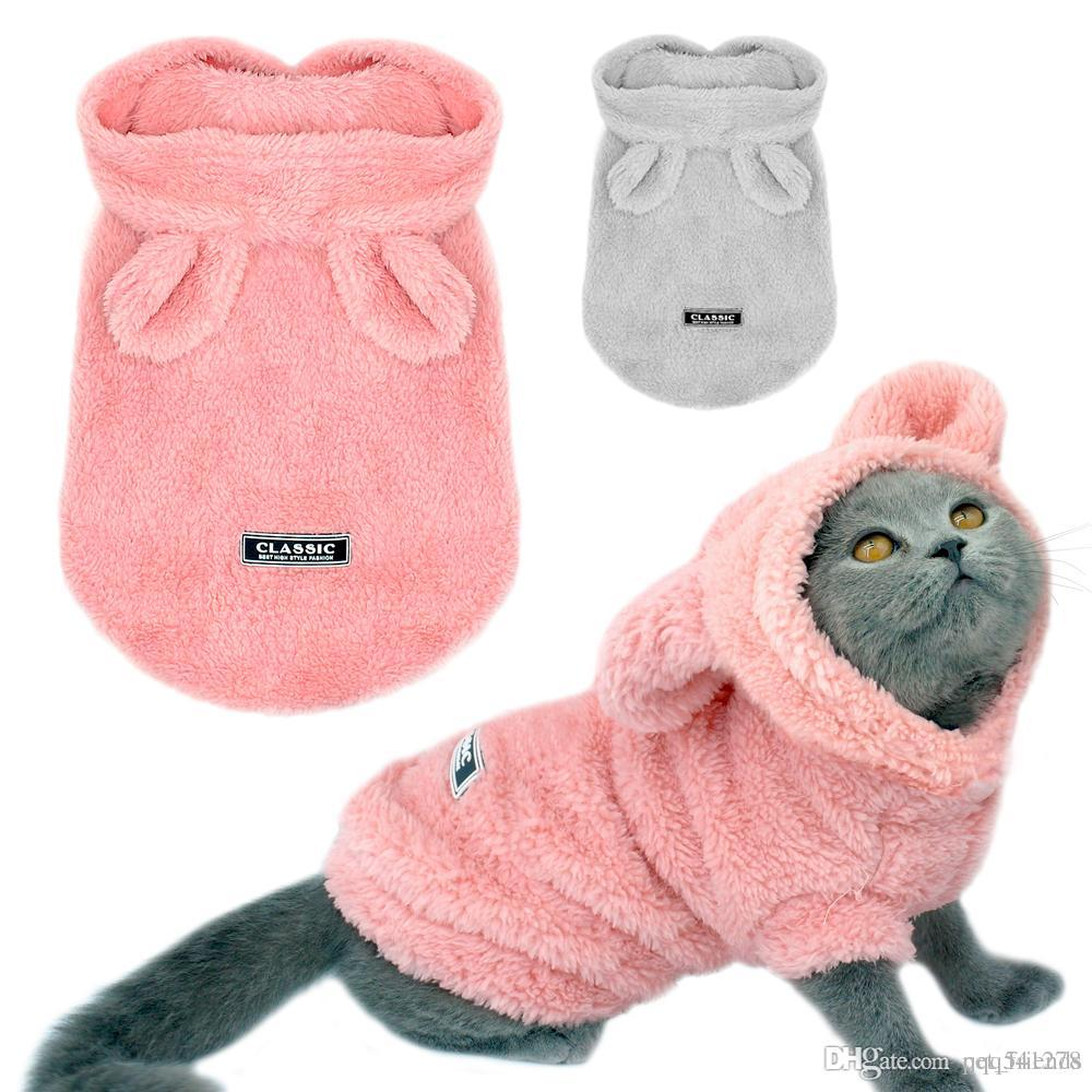 Funny Dinosaur Pet Cat Costume Halloween Cat Clothes For Small Cats Winter Warm Fleece Kitten Hoodies Coat Jacket Dog Clothing Consumers First Cat Clothing