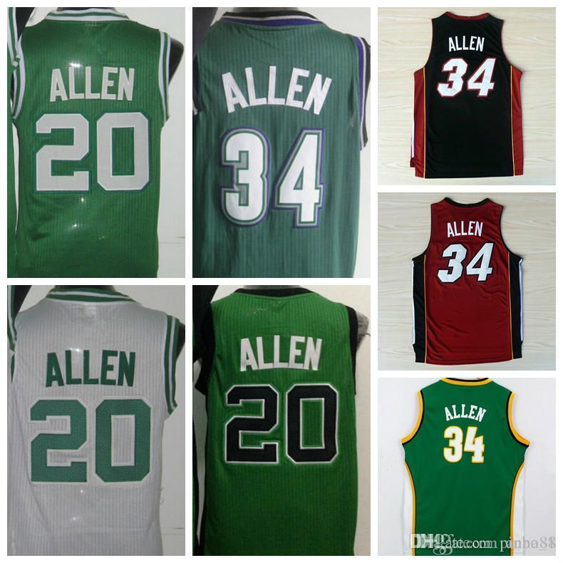 best website 17aa2 f39c0 Hot Retro 20 Ray Allen Uniforms 34 Jesus Shuttleswort Jersey 1998 Film  lincoln 34 Allen School Shirt Rev 30 Red White Green Black Yellow Pu