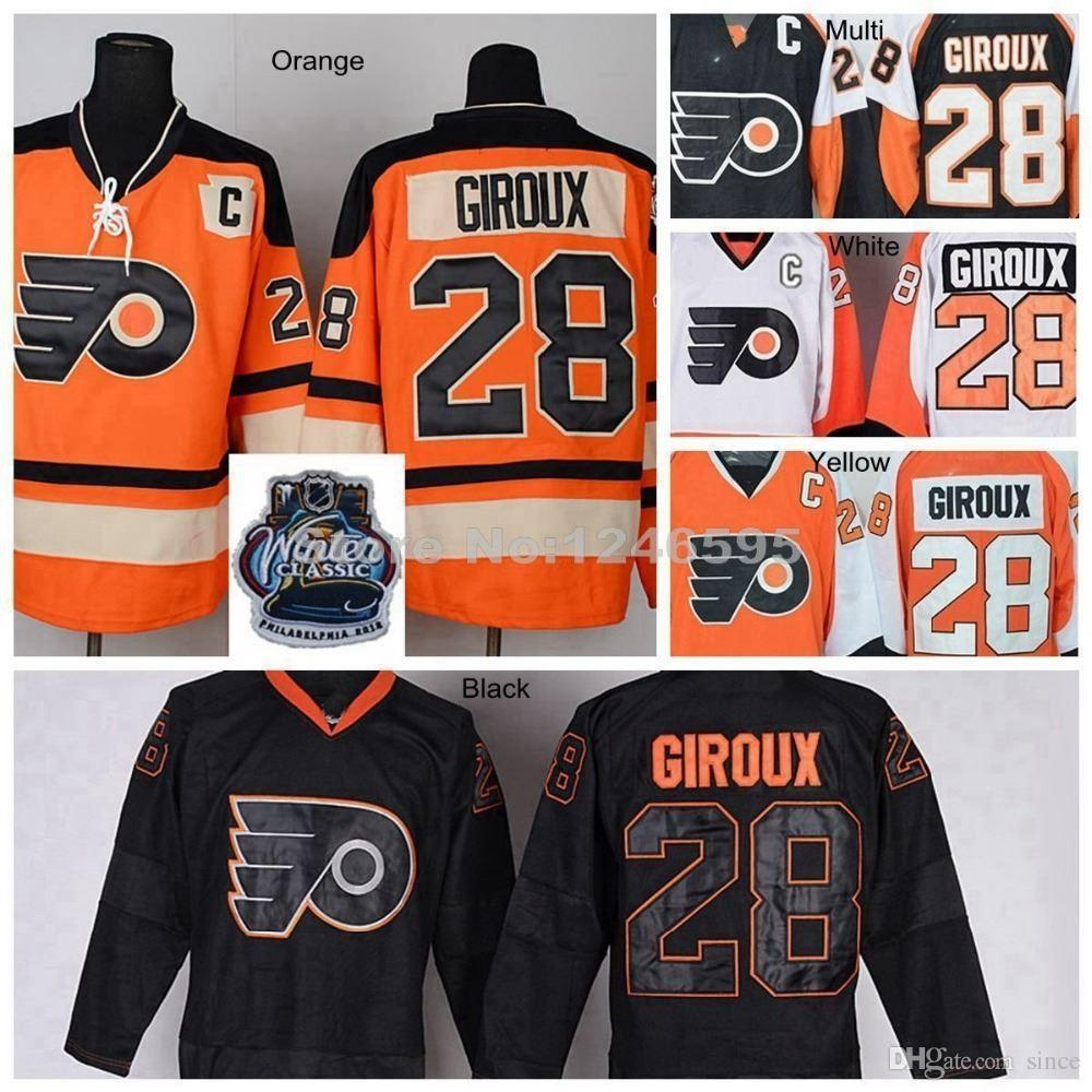 wholesale dealer a3266 fd51e 2016 New, #28 Claude Giroux Jersey Philadelphia Flyers Hockey Jersey Home  Orange Claude Giroux Winter Classic Jersey Stitched C Patch