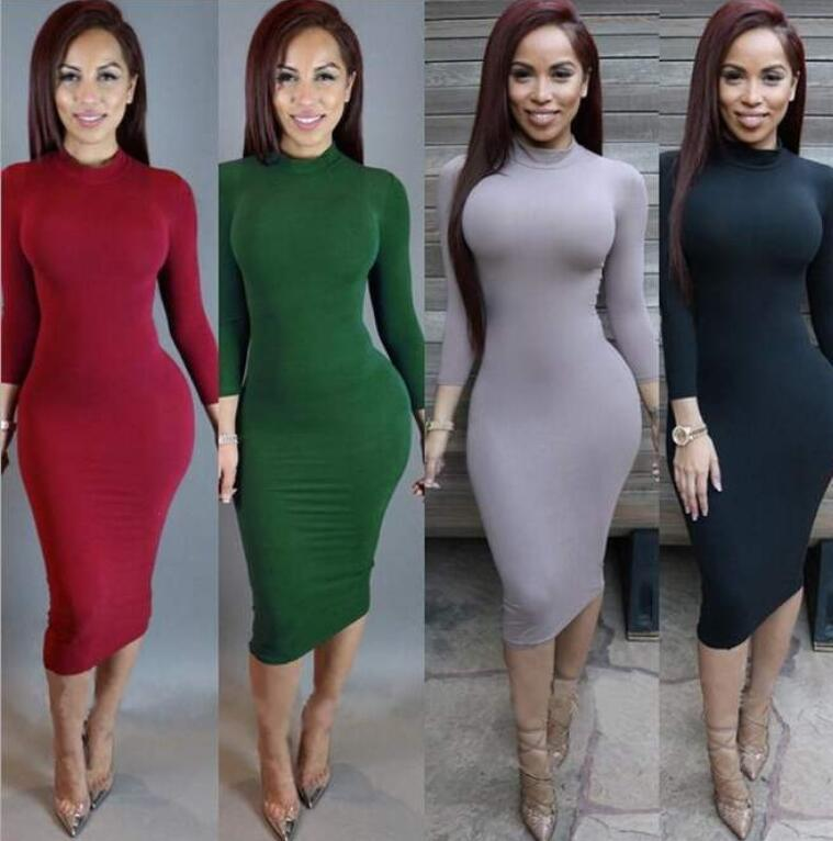 designer dresses Plus Size vestidos de mujer Skinny Sexy Club Wear Gorgeous Warm Maxi Bandage Bodycon Dress