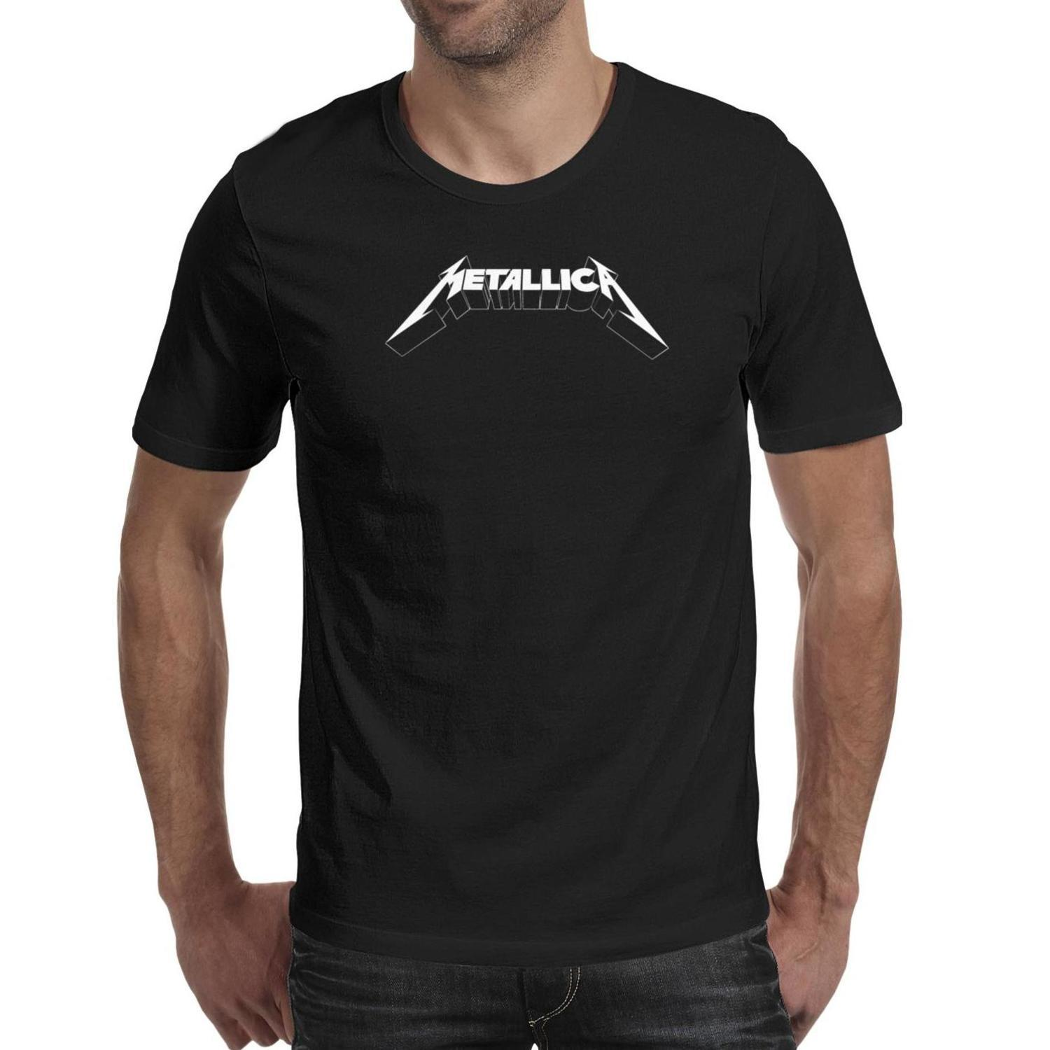 Mens t-shirt American rock band Metallica music shirt Cotton Casual Fashion Shirt
