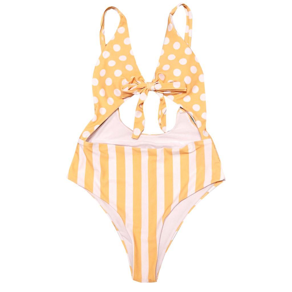 e467648399fec Swimming Suit for Women Sexy Beachwear Patchwork Dot Bandage Bikini ...