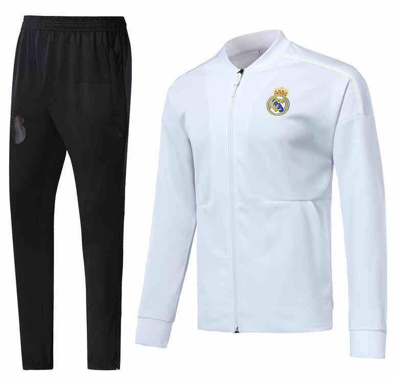 premium selection 40b54 7d3fe 2018 Real Madrid white Jacket 2018 Chandal Full Zipper Long Sleeve  Tracksuit 18/19/20 ISCO MODRIC BALE psg Jacket Pants Chandal Training sui