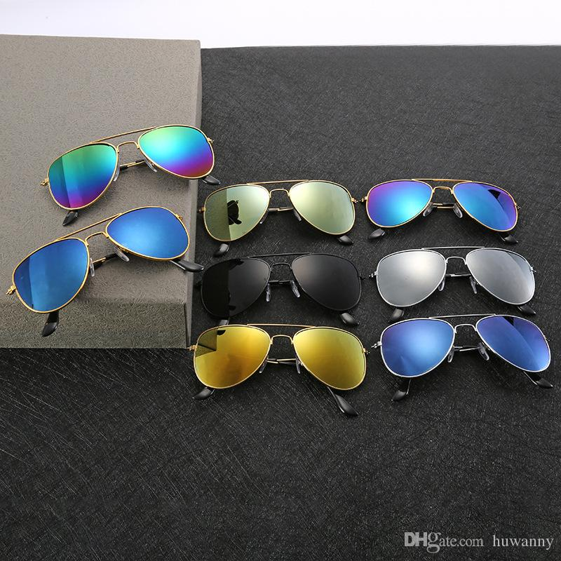 00036160eba9 Men Sunglasses Women Beach Supplies UV Protective Eyewears Fashion  Sunshades Sun Glasses Dazzle Color Mirror Sunglasses Wholesale 0030GLS Kids  Sunglasses ...
