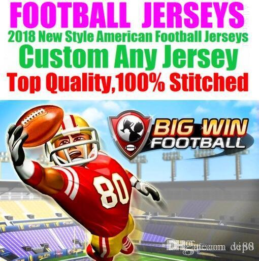 hot sale online e6b61 96dd3 All Stitched Custom american football jerseys Houston New York college  authentic cheap baseball basketball mens womens youth USA 4xl shirts