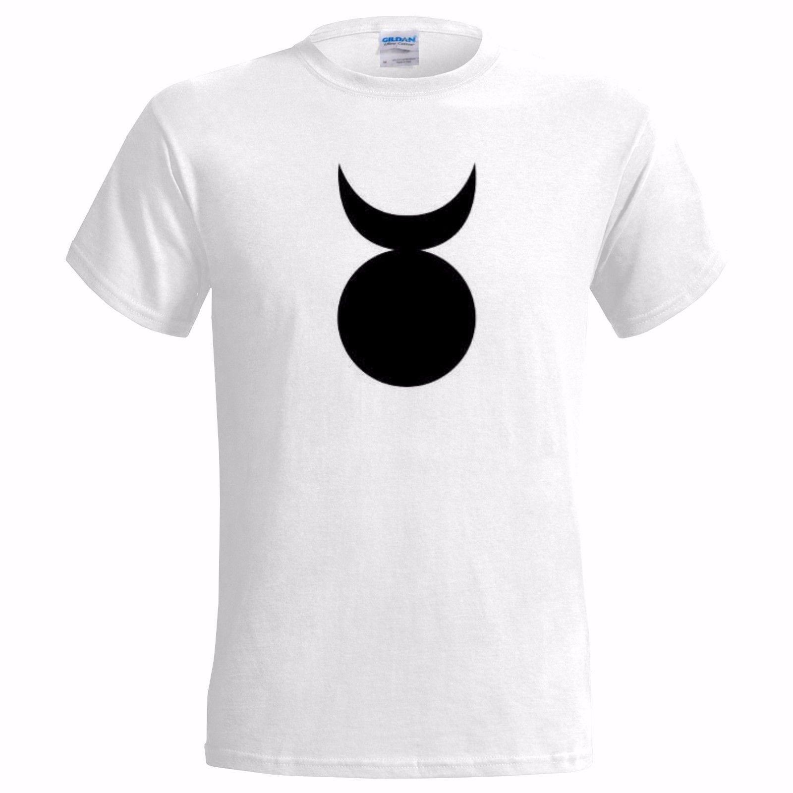 Grosshandel Horned God Symbol Mens T Shirt Wicca Wiccan Pagan Zeichen