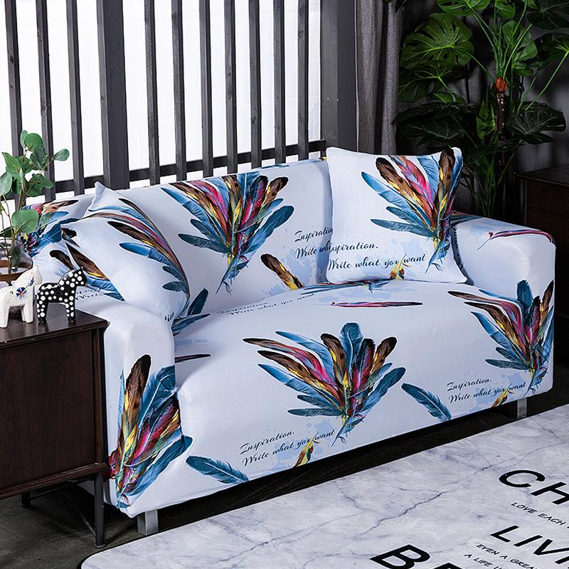 Admirable Fashion Feather Pattern Sofa Cover Slipcover Sofa For Towel Living Room Furniture Protective Armchair Couches 1 2 3 4 Machost Co Dining Chair Design Ideas Machostcouk
