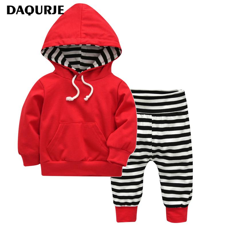 500d651cfa506 2019 Autumn Winter Newborn Baby Boy Clothes 100% Cotton Long Sleeves Hooded  Sweater + Pants Baby Clothing Set Infant New Year Suit Y18120601 From  Shenping02 ...