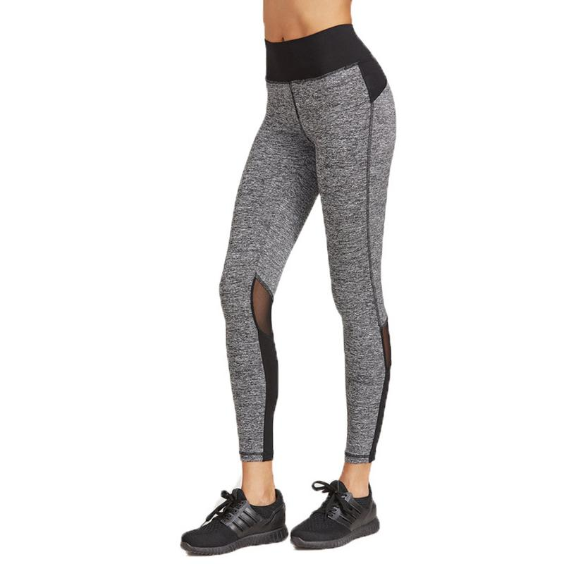 74d8a76623 2019 Women Elastic High Waist Running Pants Mesh Patchwork Sport Yoga  Tights Quick Dry Slim Jogging Fitness Leggings Trousers From Feiteng005, ...