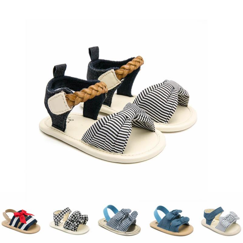 4b1a9b7080be8 2019 new baby shoes Summer Newborn Sandals bows toddler shoes Moccasins  Soft Baby First Walker Shoe Infant Sandals toddler shoes A4263