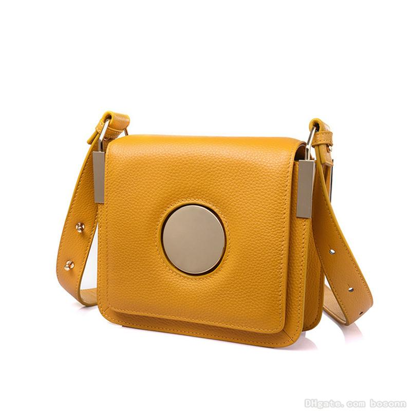 6be9690e5964 Womens Genuine Leather Crossbody Bags Small Cell Phone Wallet Purse  Shoulder Bag For Women White Yellow Black Black Leather Handbags Small  Purses From ...