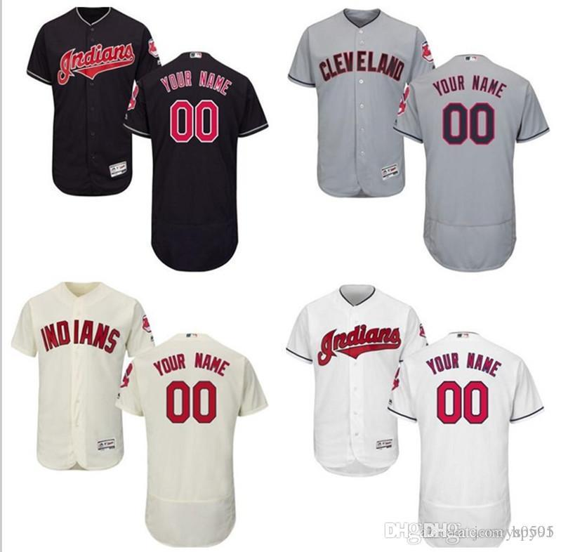 d4f1158ce 2019 2018 Custom Men S Women Youth Cleveland Indians Jersey Any Your Name  And Your Number Home Blue Grey White Kids Girls Baseball Jerseys From  Hpy01