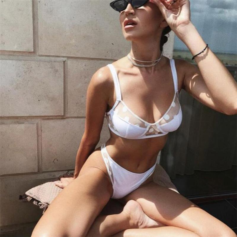 Sexy Bikinis 2019 Push Up Thong Bikini Set Micro Swimwear Female Lace Swimsuit Women Dot Swimming Suits Black Beachwear Floral
