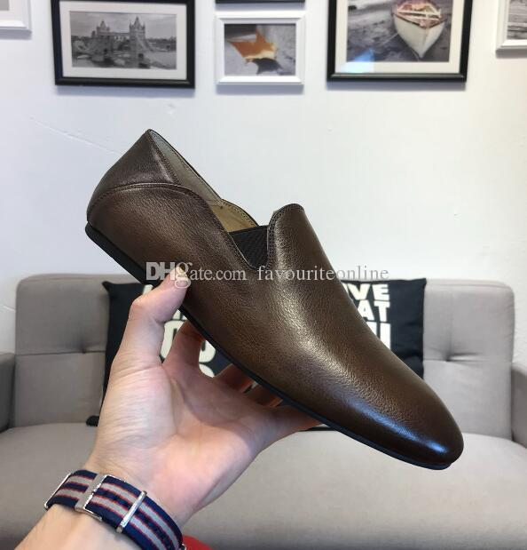 [Orignal Box] Luxury Fashion Mens Gommino Mocassini Drive Walk Dress 100% vera pelle Slip-On antiscivolo scarpe taglia 38-44