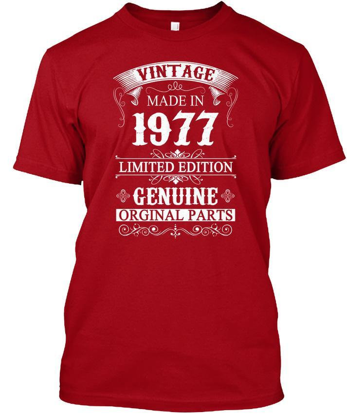 40 Years Old 1977 40th Birthday Gifts Vintage Made Popular Tagless Tee T Shirt Funky Shirts Online Mens From Jie035 1208