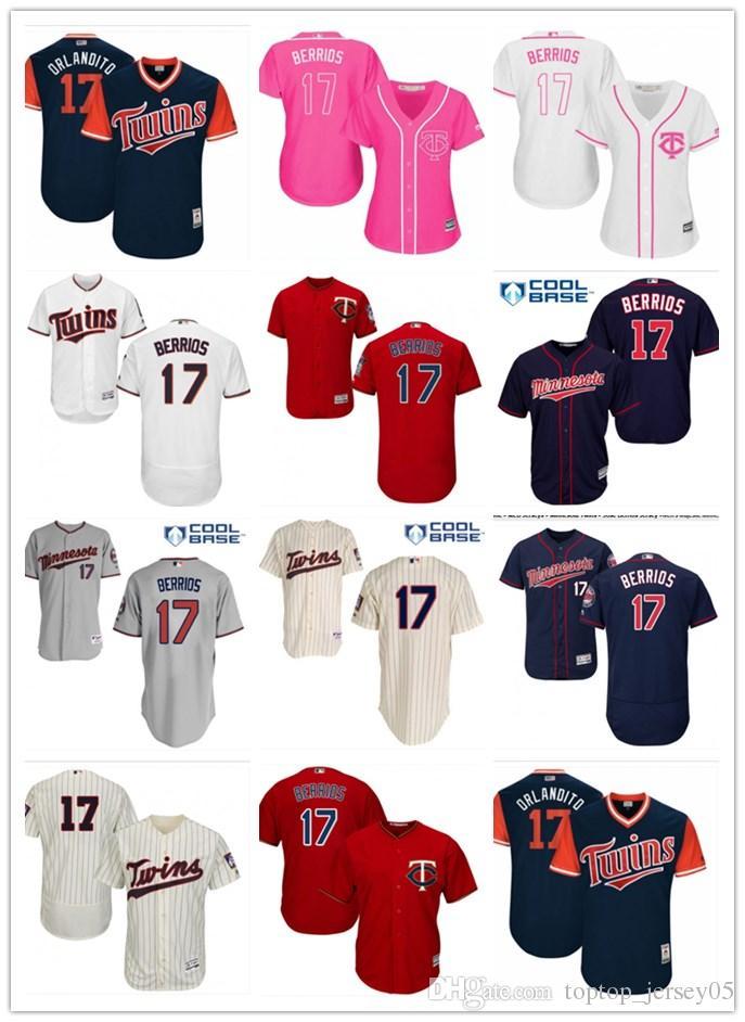 2018 Top Minnesota Twins Jerseys  17 Jose Berrios Jerseys Men WOMEN YOUTH Men S  Baseball Jersey Majestic Stitched Professional Sportswear UK 2019 From ... d3ec9118f