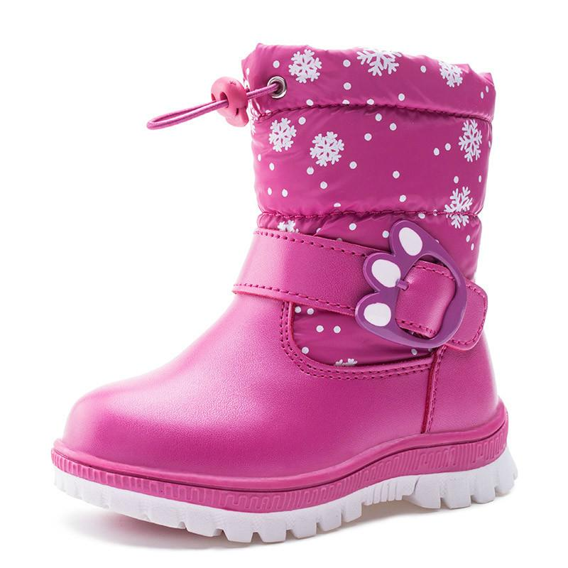 quality design 2253e 446b4 Kinder Stiefel Mädchen Winter shaggly Kinder Stiefel Junge mit Leder  Knöchellänge und Gummi Schnee Kinder Boot Mädchen Y1612