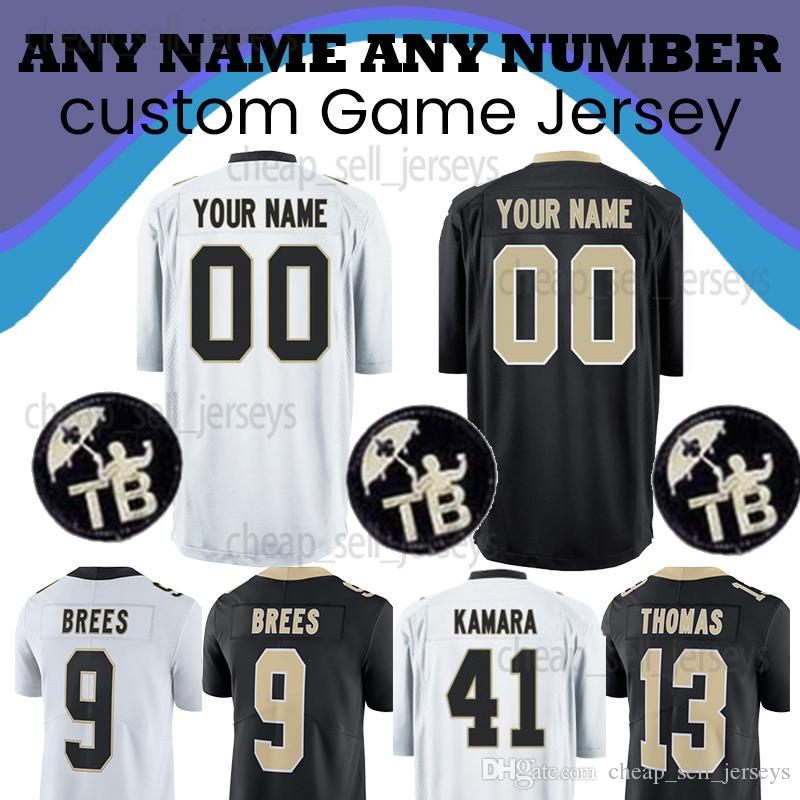 new concept 349c6 4690e Customized jersey 41 Kamara 13 Thomas New Orleans Jersey Saints 9 Brees 23  Lattimore Game American football jerseys shirt